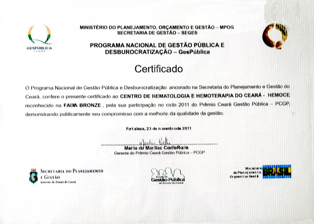 certificado gespblica  bronze 2011